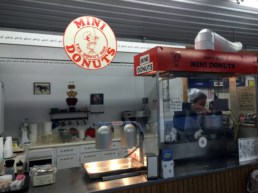 Mini Donuts at the Windmill in Penn Yan, New York
