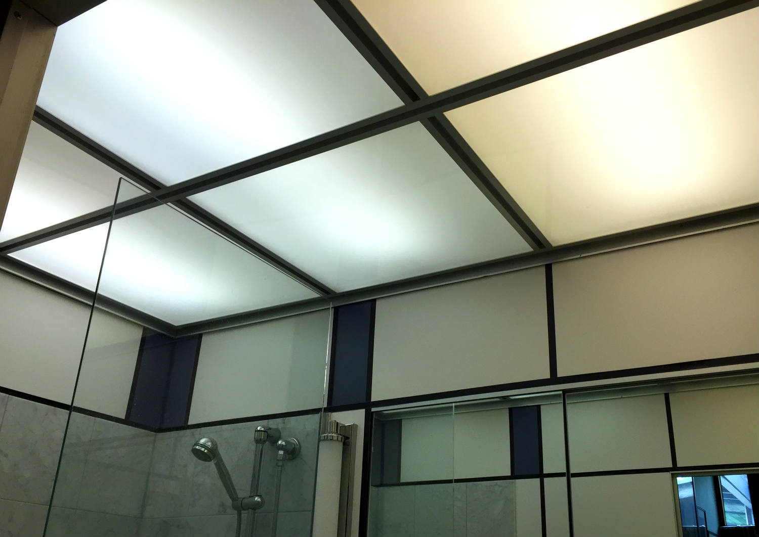 Bathroom Ceiling in Alcoa Care Free Home in Rochester, New York