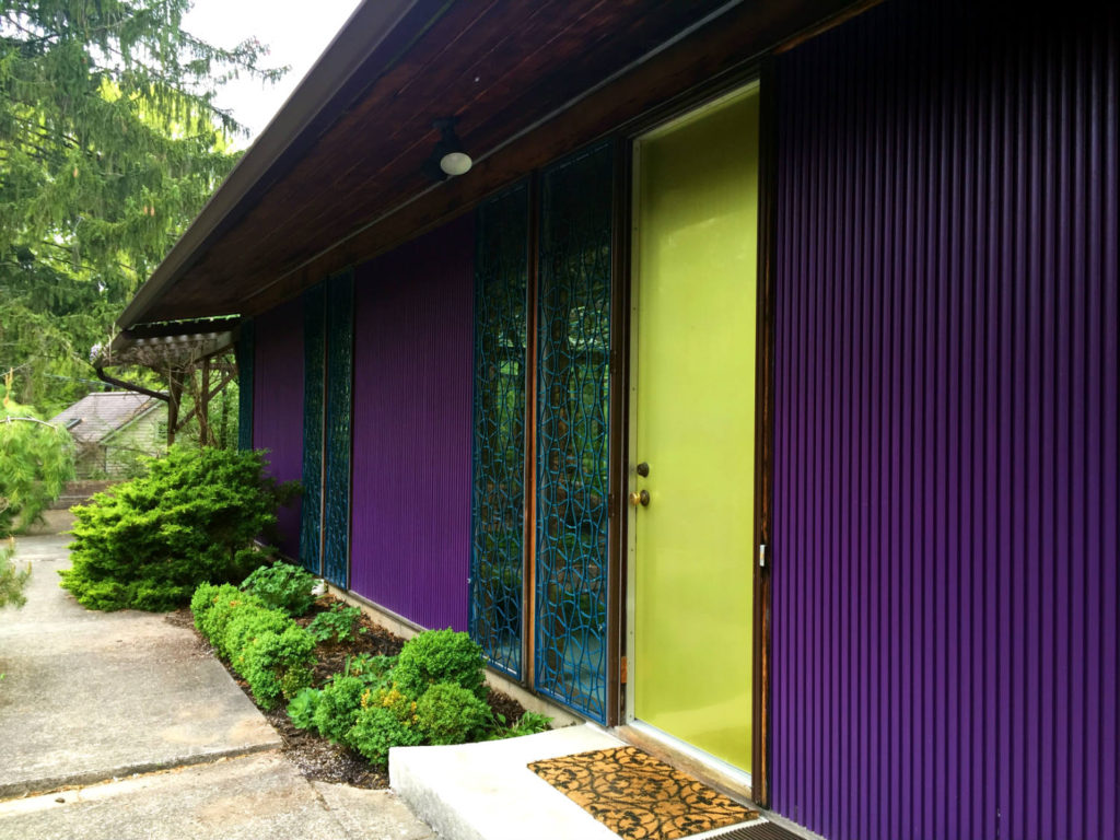 Exterior Paneling and Door to Alcoa Care Free Home in Rochester, New York