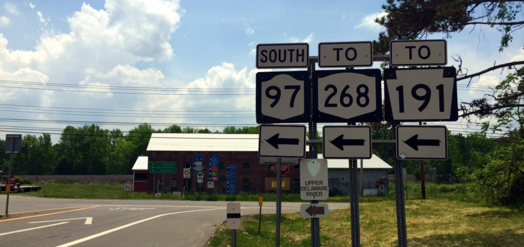 Highway Route 97 Sign in Hancock, New York