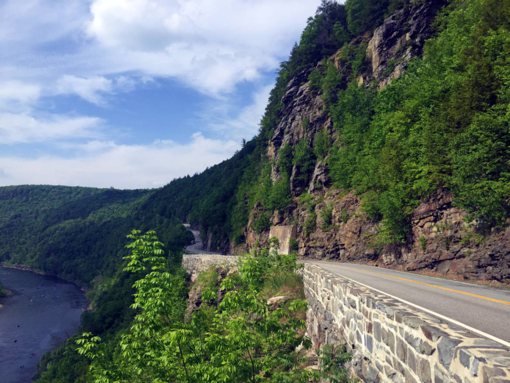 Hawk's Nest on Route 97 in Port Jervis, New York