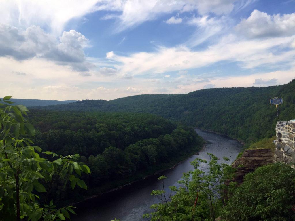 Delaware River next to Hawk's Nest