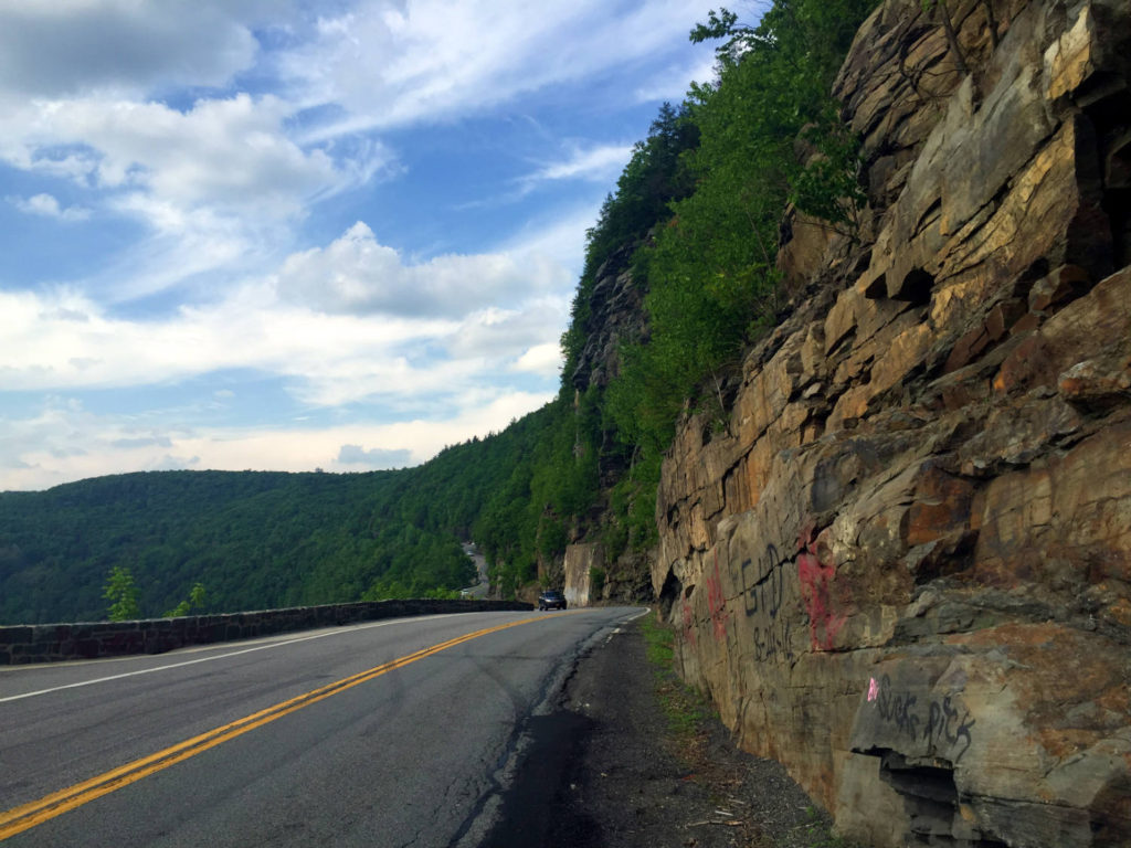 Route 97 And The Iconic Hawk S Nest Roadway