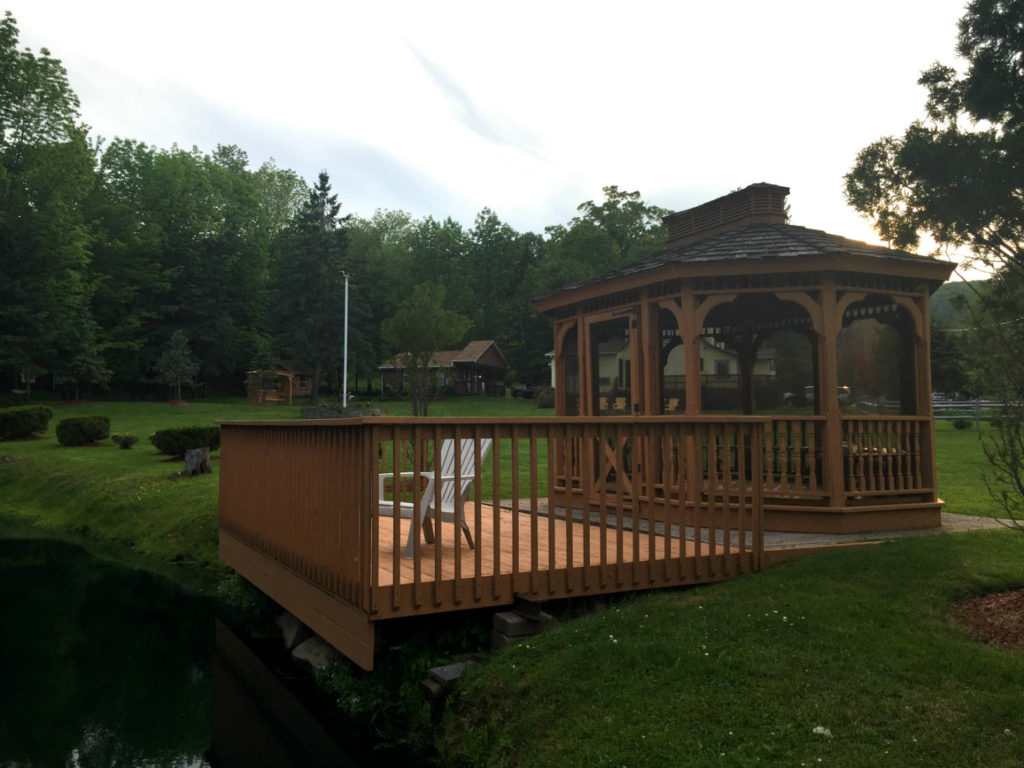 Gazebo at Lazy Pond Bed and Breakfast in Liberty, NY