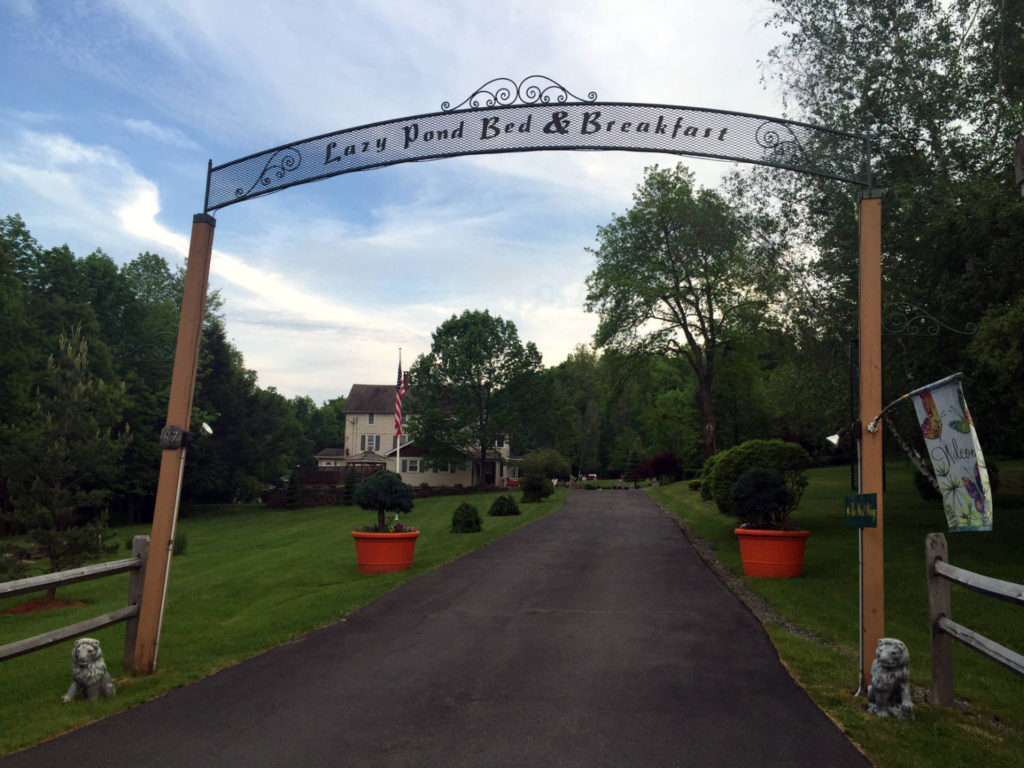Main Entrance to Lazy Pond Bed and Breakfast in Liberty, New York
