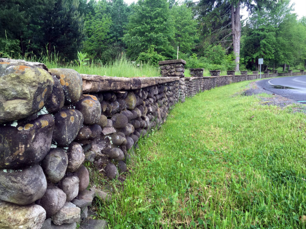 Joe Moshini's Cobblestone Wall in Sullivan County
