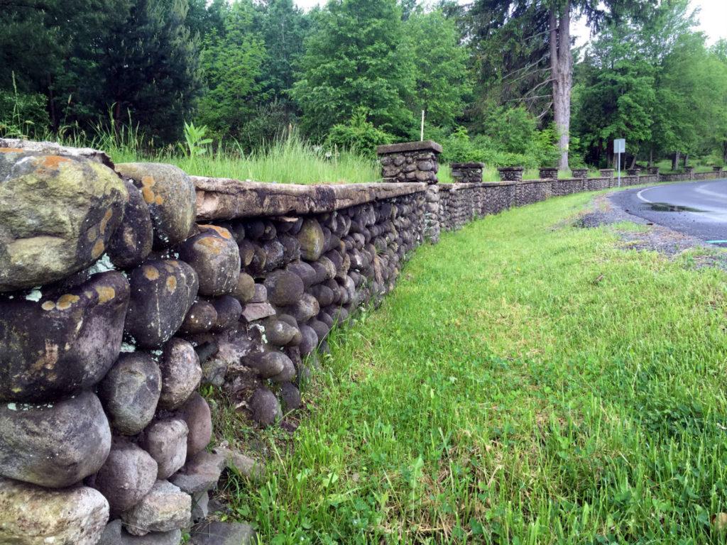 Joe Moshini's Cobblestone Wall in Sullivan County