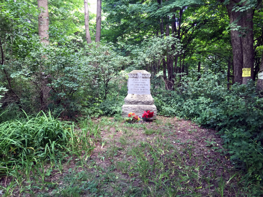 The Grave of the Ashford Hollow Witch Sophia Disch in East Otto, New York