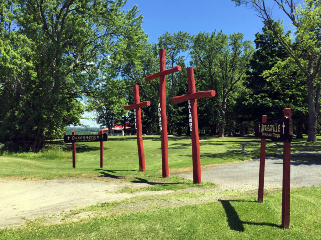 Crosses at the Ravine at the Shrine to the North American Martyrs in Auriesville, New York