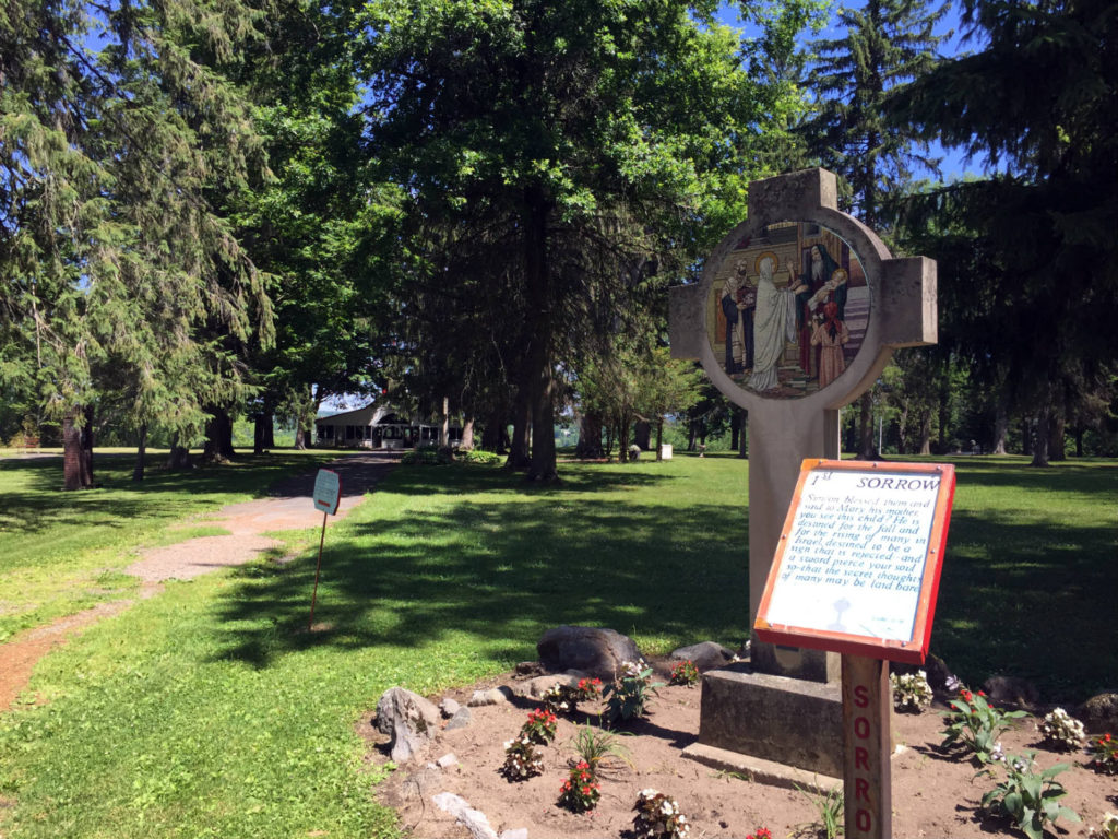 Sorrow at the Shrine to the North American Martyrs in Auriesville, New York