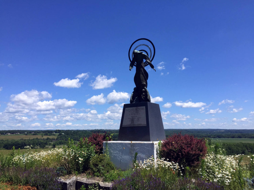 Statue at the Shrine to the North American Martyrs in Auriesville, New York