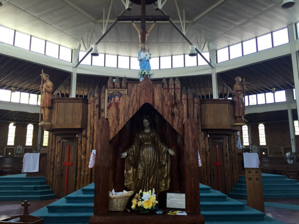 Inside Coliseum at the Shrine to the North American Martyrs in Auriesville, New York