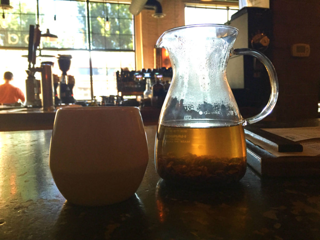 Hot Cascara Tea at Joe Bean Coffee Roasters in Rochester, New York