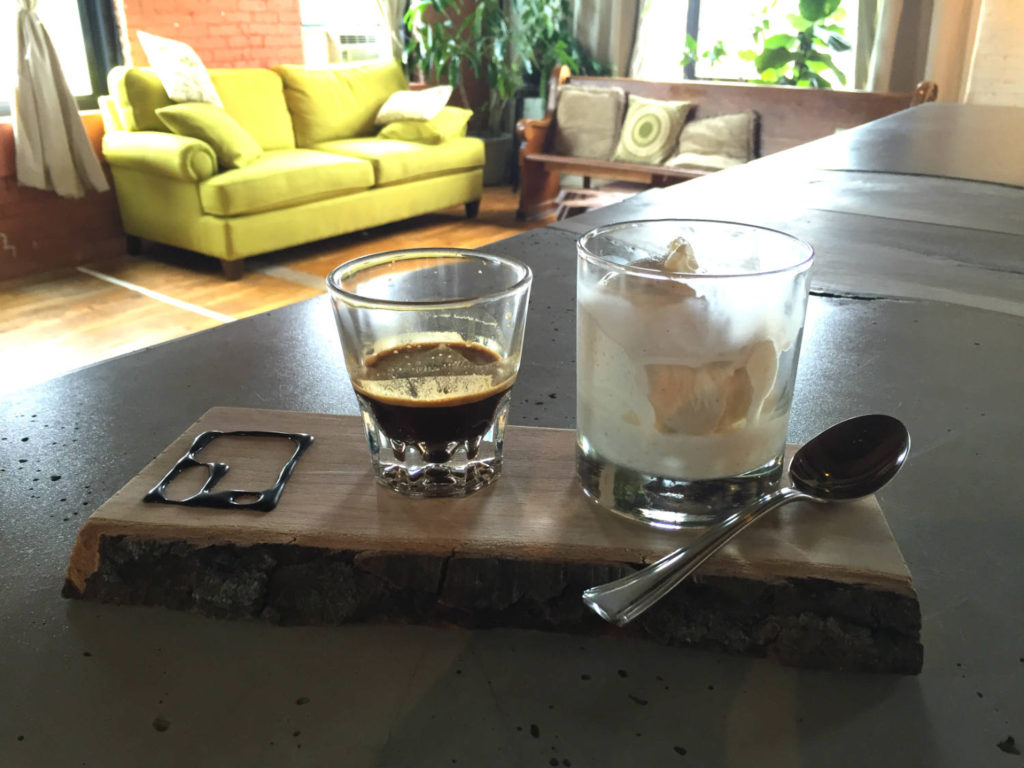 Affogato at Maker's Gallery and Cafe in Rochester, New York