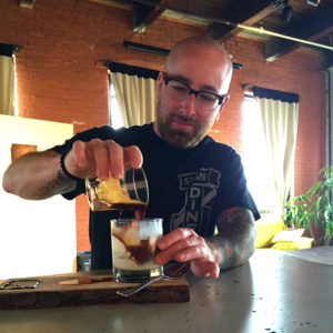 Chris Clemens Pouring an Affogato at Maker's Gallery and Cafe in Rochester, New York