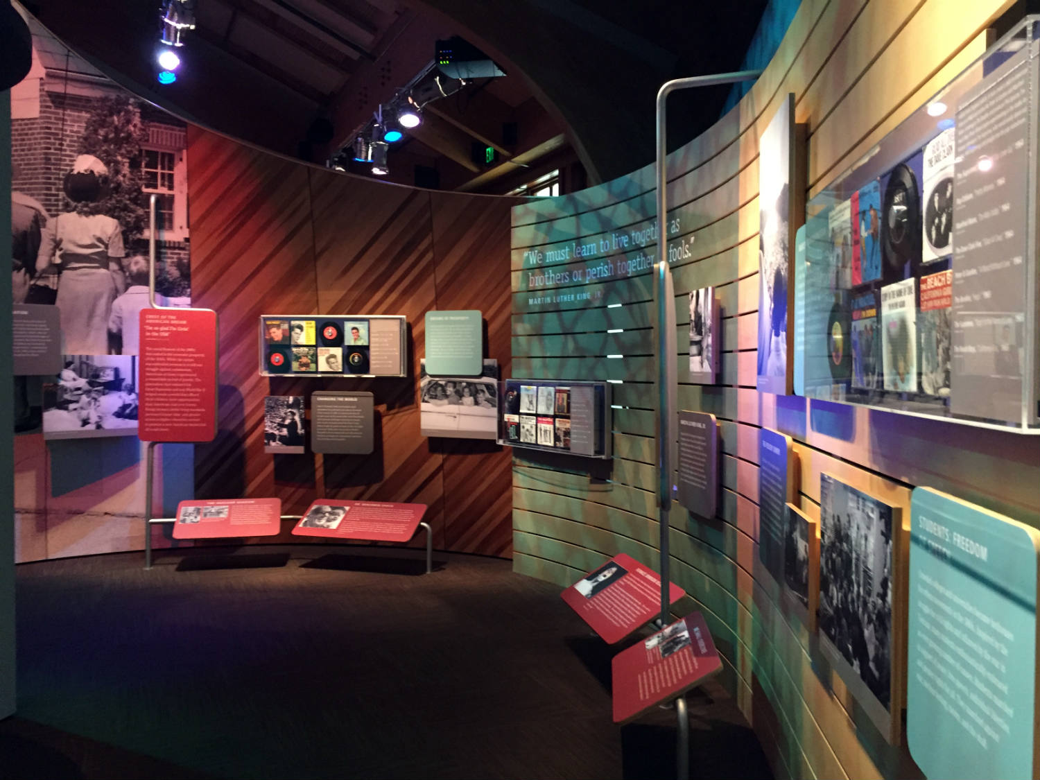 Historical Exhibit at the Woodstock Museum at Bethel Woods