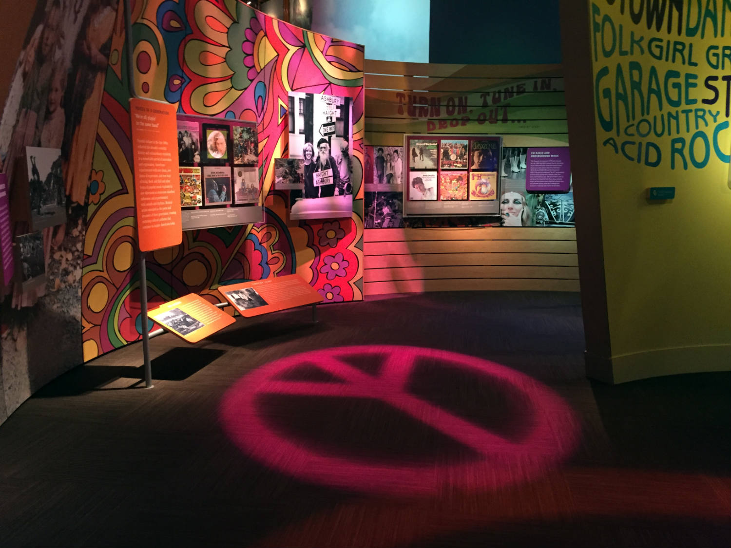 Peace Symbol Exhibit at the Woodstock Museum at Bethel Woods