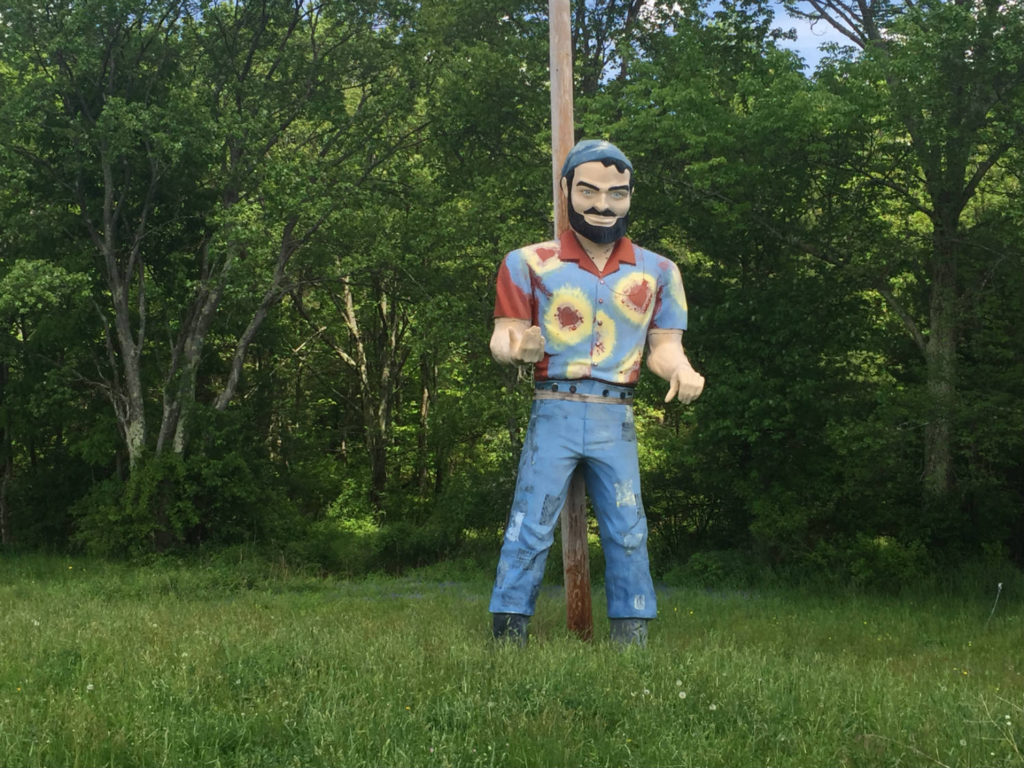 Hippie Roadside Muffler Man in Bethel, New York