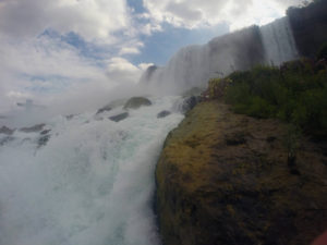American Falls and Bridal Veil Falls from Below