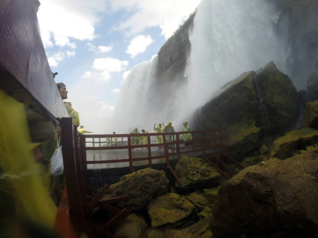 The Hurricane Deck at the Cave of the Winds in Niagara Falls, New York