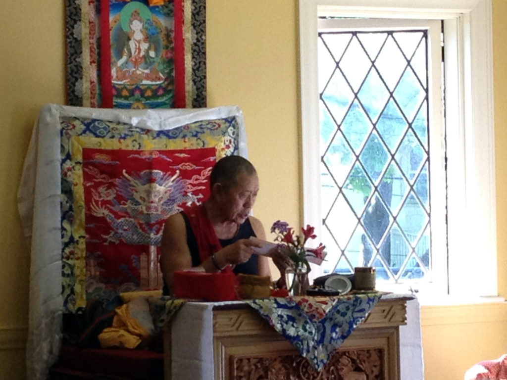 His Eminence Garchen Rinpoche at White Lotus Buddhist Center in Rochester, New York