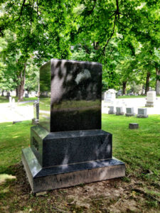 The Lady in Granite Tombstone in Penn Yan
