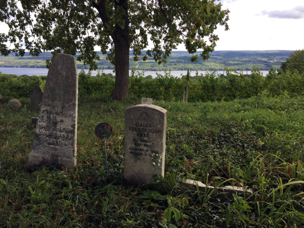 Grave of Caleb Fulkerson and Wife at Fulkerson Winery in Dundee, New York