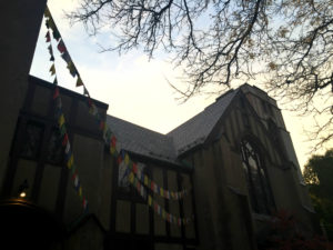 Buddhist Prayer Flags at White Lotus in Rochester, New York
