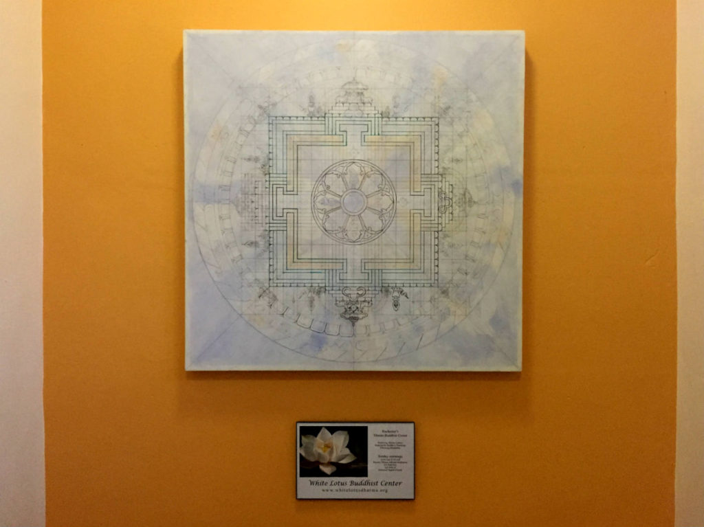 Mandala at the White Lotus Buddhist Center in Rochester, New York