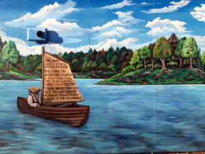 Mural in Clayton, New York