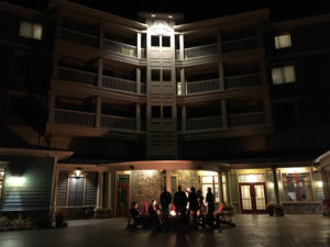 Patio at Night 1000 Islands Harbor Hotel in Clayton, New York