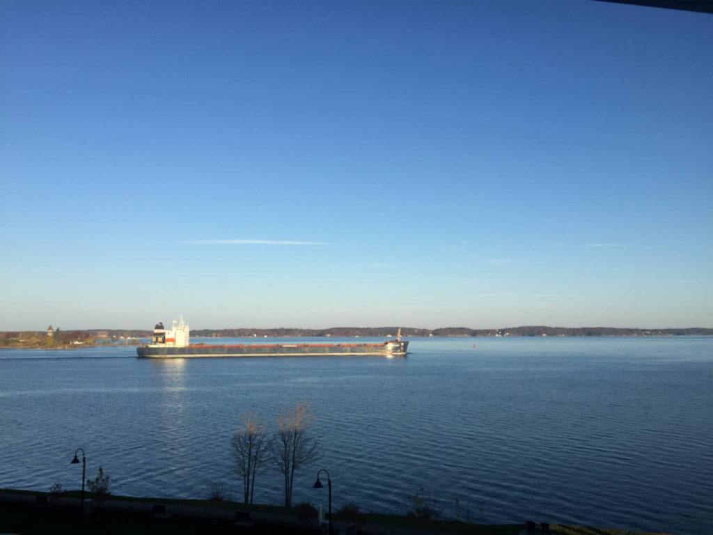 Ship on the St. Lawrence River in Clayton, New York