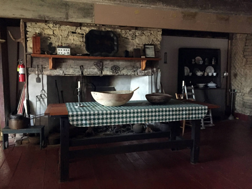 Kitchen Inside the The 1747 Nellis Tavern in St. Johnsville, New York