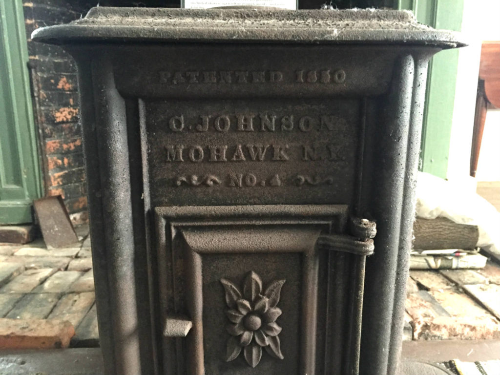 Locally Made Stove in the Nellis Tavern in St. Johnsville, New York