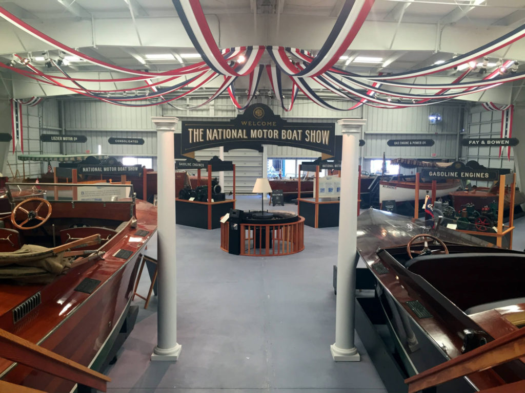National Motor Boat Show Exhibit in the Antique Boat Museum in Clayton, New York