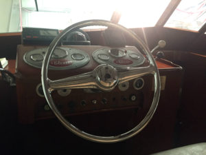 Antique Boat Steering Wheel in the Antique Boat Museum in Clayton, New York