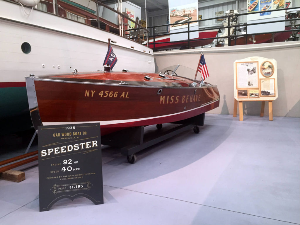 Speedster Boat in the Antique Boat Museum in Clayton, New York