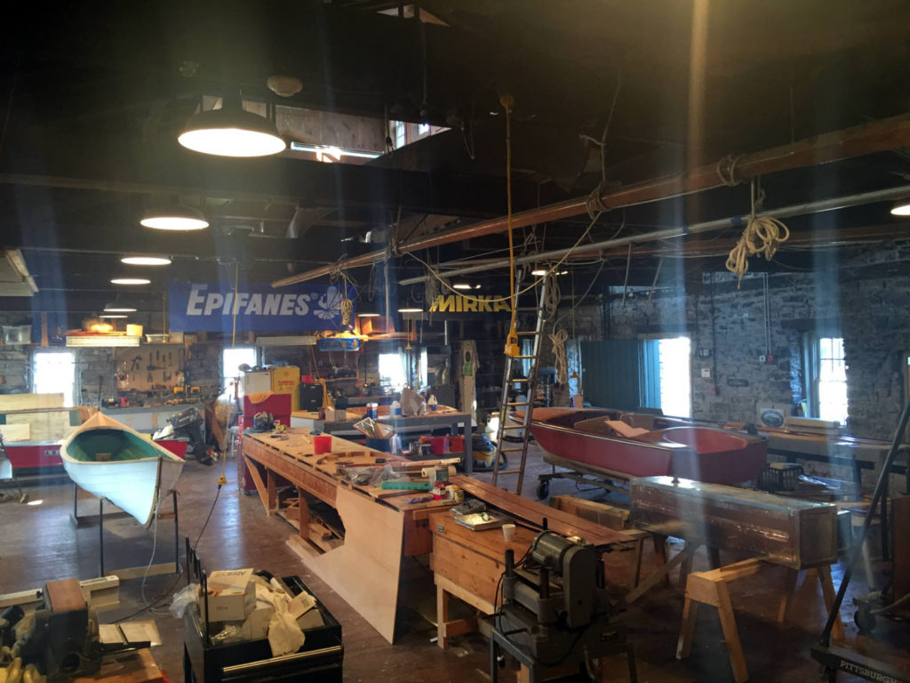 Restoration Workshop in the Antique Boat Musem in Clayton, New York