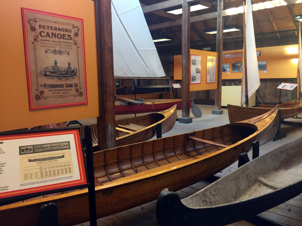 Canoes at the Antique Boat Museum in Clayton, New York