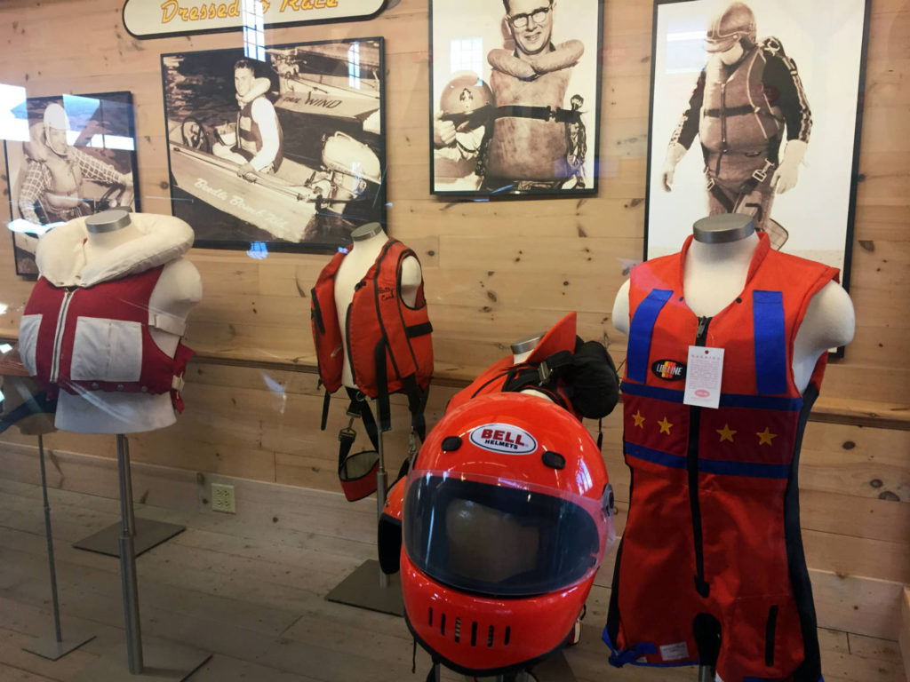 Life Jacket Exhibit at the Antique Boat Museum in Clayton, New York