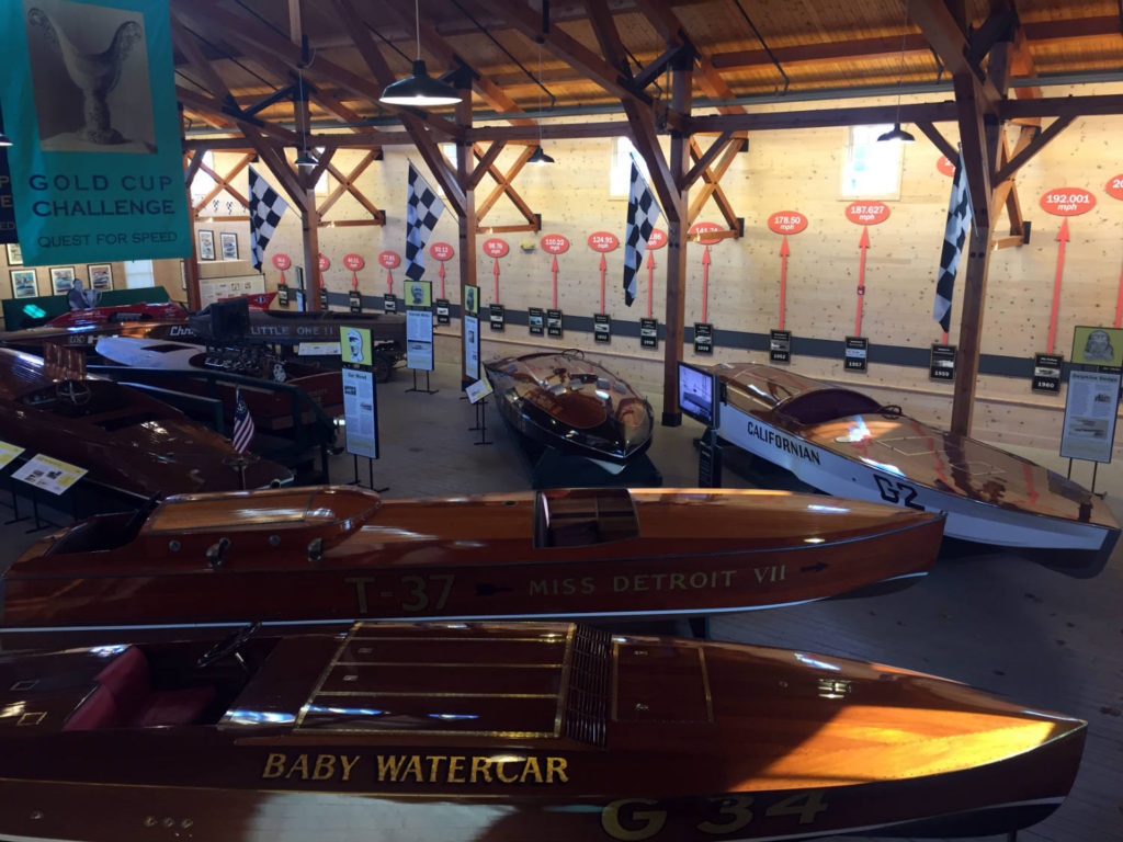Speed Boats at the Antique Boat Museum in Clayton, New York