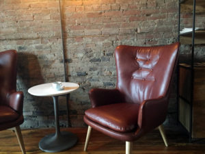 Furniture at Publick Coffee Bar in Penn Yan, New York