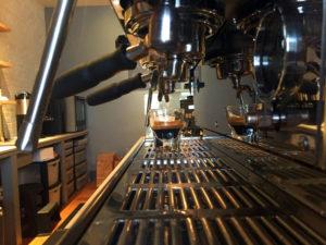 Espresso Machine at Publick Coffee Bar in Penn Yan, New York