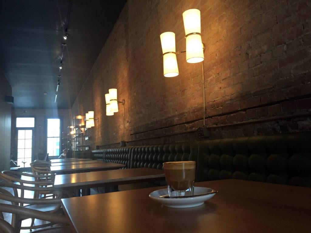 Cortado at Publick Coffee Bar in Penn Yan, New York