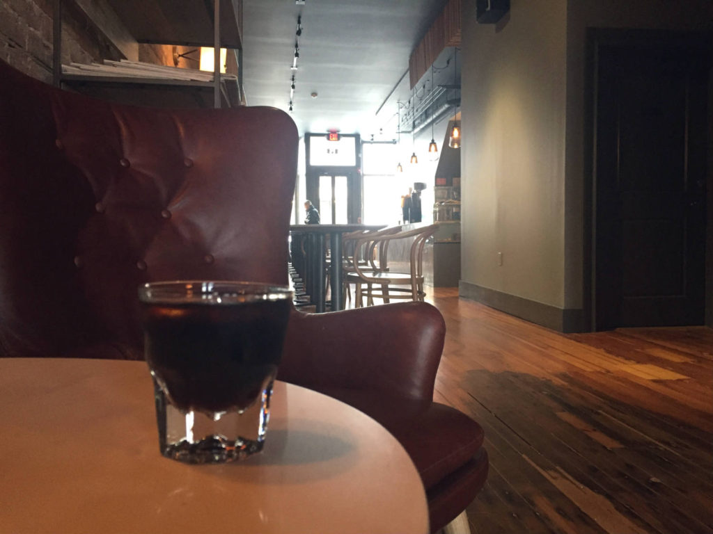 Cold Brew Coffee at Publick Coffee Bar in Penn Yan, New York