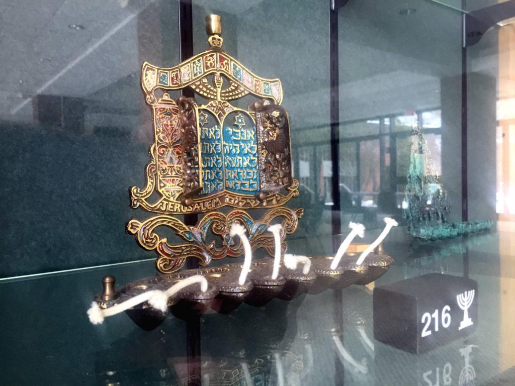 Oil Lamp Menorah at Temple B'rith Kodesh in Rochester, New York