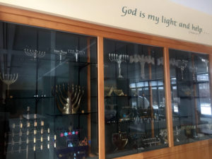 Menorah Collection at Temple B'rith Kodesh in Brighton, New York
