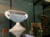 Vase Hanukkiah from Israel at Temple B'rith Kodesh in Rochester, New York