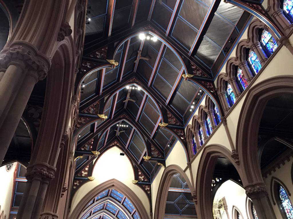Ceiling Inside St. Paul's Episcopal Cathedral in Buffalo, New York