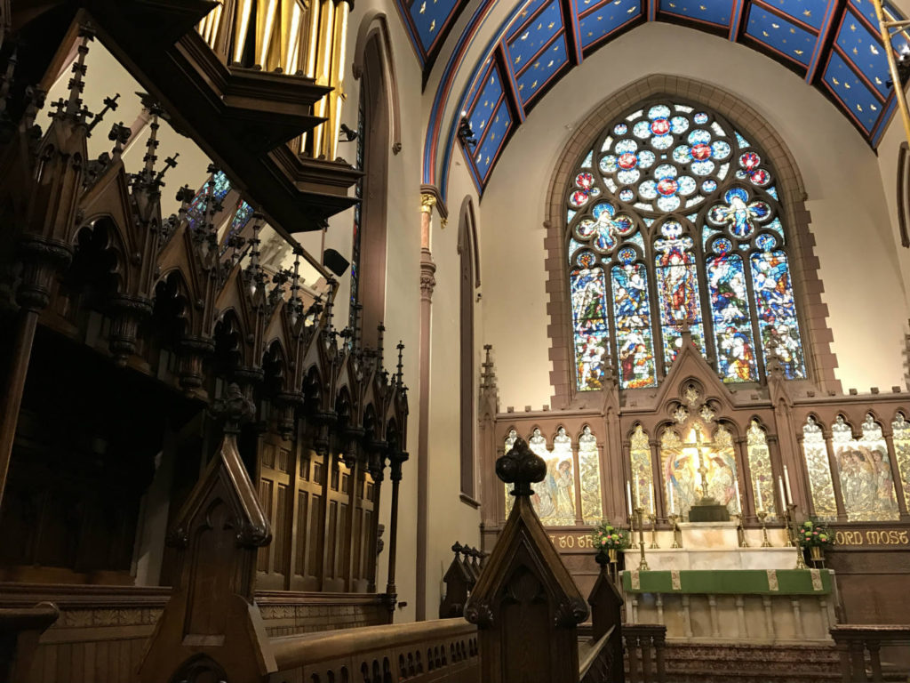 Main Altar Inside St. Paul's Episcopal Cathedral in Buffalo, New York